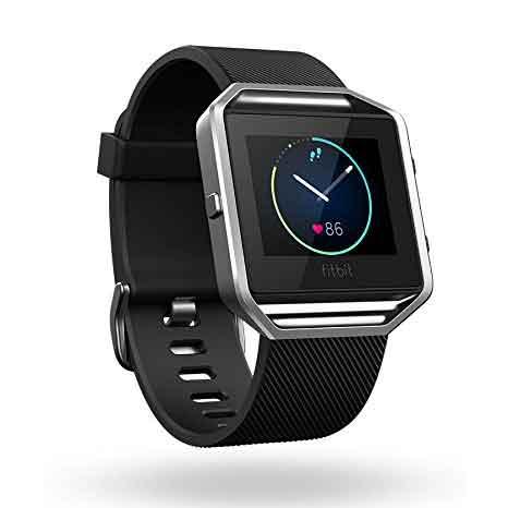 Fitbit Blaze Smart Fitness Reloj, Negro, Plata, Grande