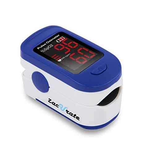 Monitor de Saturación de Oxígeno de Sangre de Oxígeno de Pulso Zacurate 400B con baterías y cordón incluido