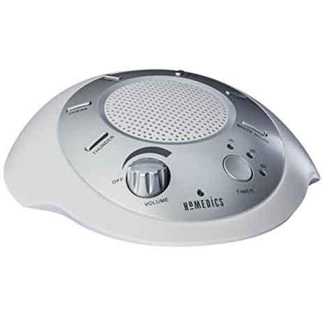 HoMedics SS-2000G / F-AMZ Sound Spa Máquina de relajación con 6 sonidos naturales, plata
